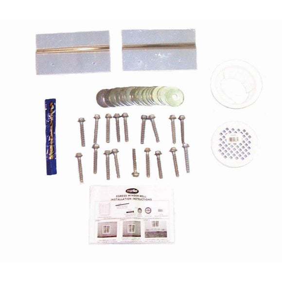 Universal Egress Window Well Installation Kit