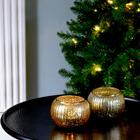 Gold Globe Votives Duo