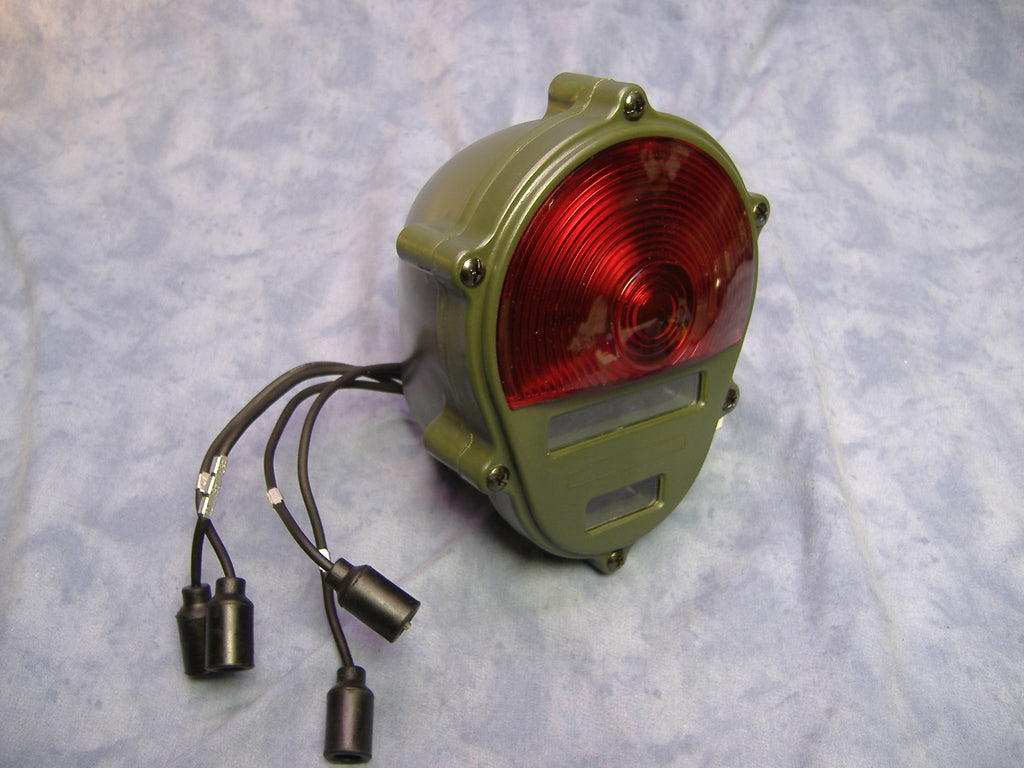 24 VOLT MILITARY TAIL LIGHT COMPOSITE TAIL LIGHT M35A2, M35A3, M109A3 M54, M813, M816, M818 M923 M925 M931 M939 M998,M151 M52 M62 M543 M246 M51 M39  11614157, alternate numbers 3454000, MS52125-2, SW27006-3.  NSN 6220010934439 BIG MIKE SURPLUS BIG MILES SURPLUS BIG MIKES MOTOR POOL BIG MIKE;'S MOTOR POOL BIG MIKE'S MOTORPOOL BIG MIKE ARMY TRUCK PARTS .
