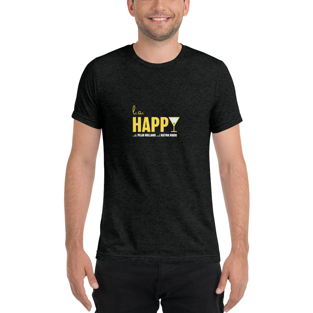 L.A. Happy Show Short Sleeve Men's T-Shirt in Charcoal