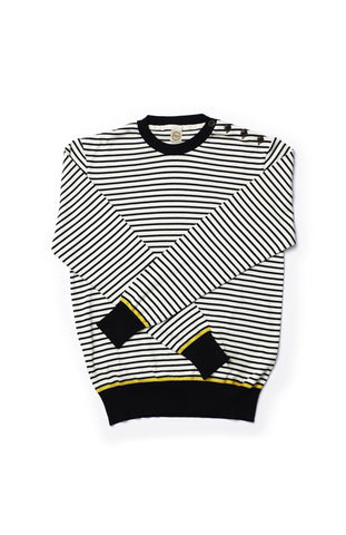Breton Stripe Cotton Crew