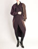 Issey Miyake Vintage Purple Knit Oversized Wool Sweater Coat