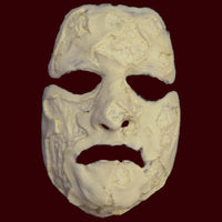Burned face foam latex mask