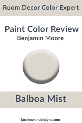Benjamin Moore Balboa Mist Color Review Paint Sample