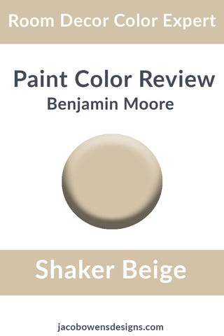 Benjamin Moore Shaker Beige Color Review Paint Sample