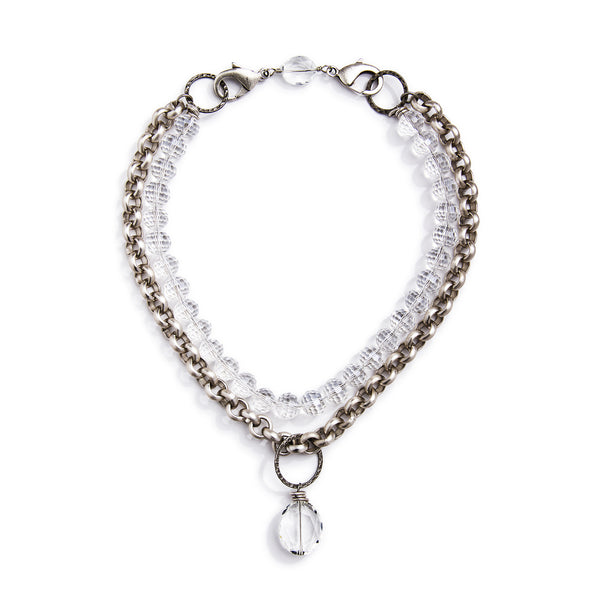 Lyra Convertible Necklace - Silver