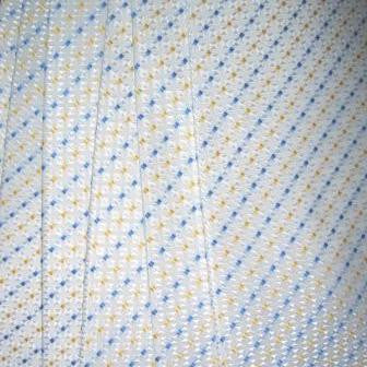 White Necktie With Blue And Yellow Stars