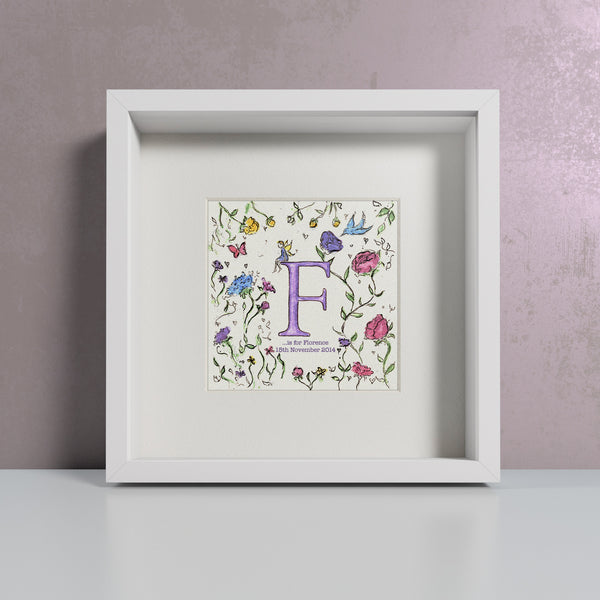 Bluebirds & Roses - Personalised Print