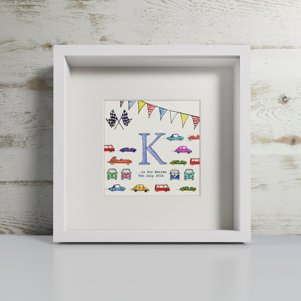 Vintage Cars - Personalised Print