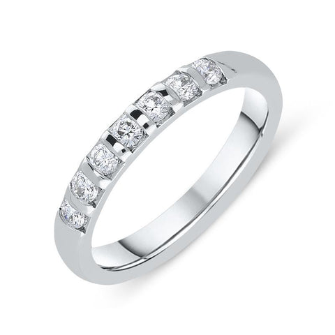 18ct White Gold 0.42ct Diamond 3mm Wedding Ring