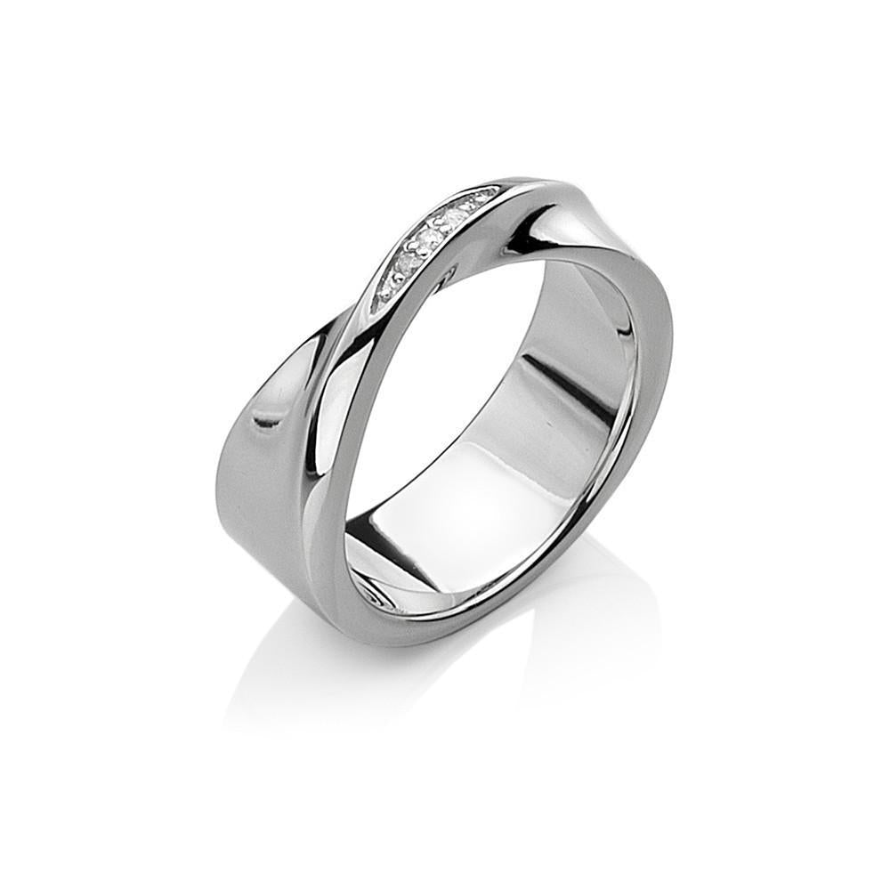 Hot Diamonds Twist Sterling Silver Ring D