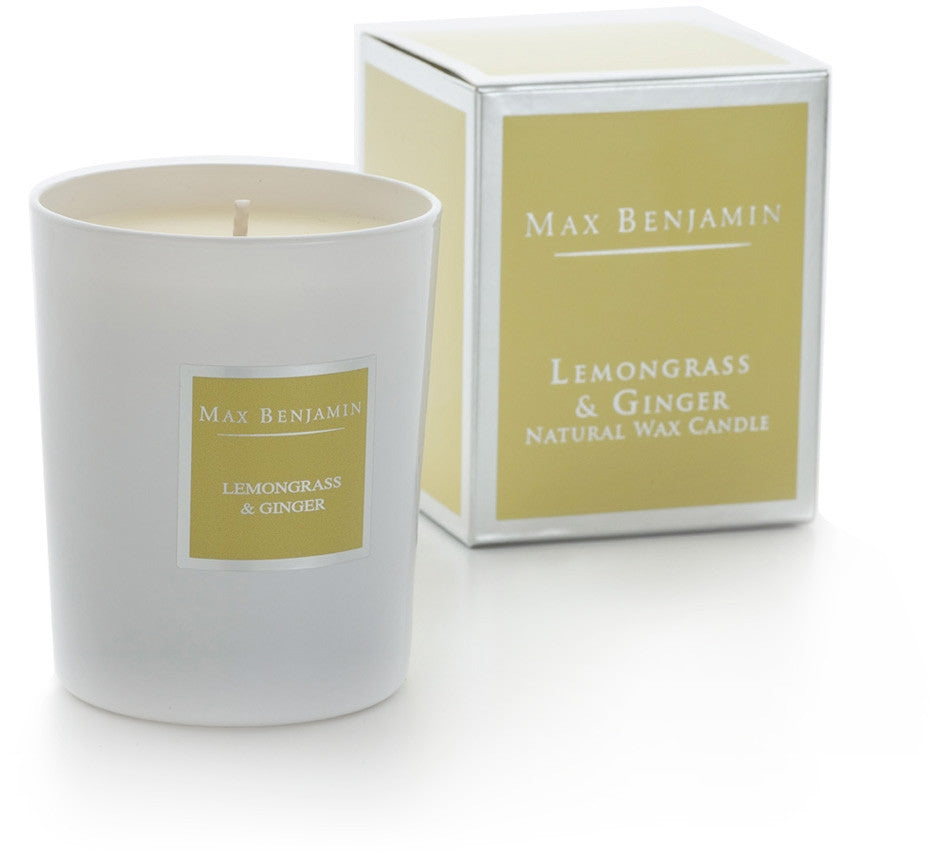 Lemongrass & Ginger - Natural Wax Candle by Max Benjamin
