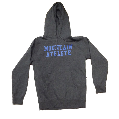"Mountain Athlete Hoodie ""Train"" - Dark Heather Grey"