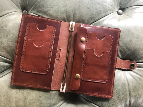 Travel Wallet in Havana Brown