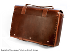 No. 4311 - Large Leather Satchel in Crazy Horse