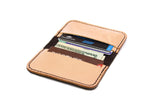 No. 215 - Card Wallet in Crazy Horse Brown