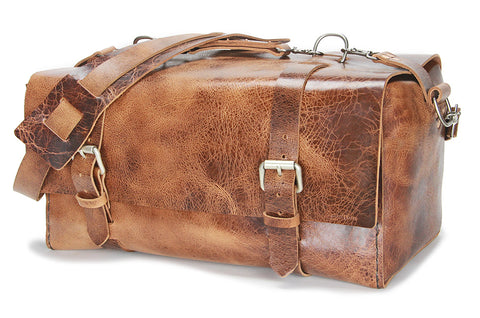 No. 613 - Medium Duffle in Glazed Tan