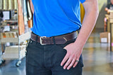 No. 518 - The Beefy Stitched Work Belt in Bridle Brown - SIZE 47 - S52 - $58