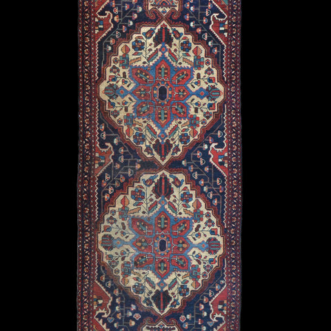 A Good Antique Persian Bakhtiari Rug, Circa 1900