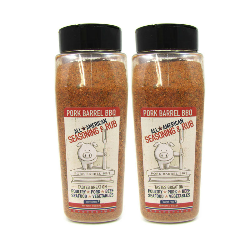 GREAT DEAL - 2 PACK - Pork Barrel BBQ All American Spice Rub - 22 oz Chef Jars-Pork Barrel BBQ