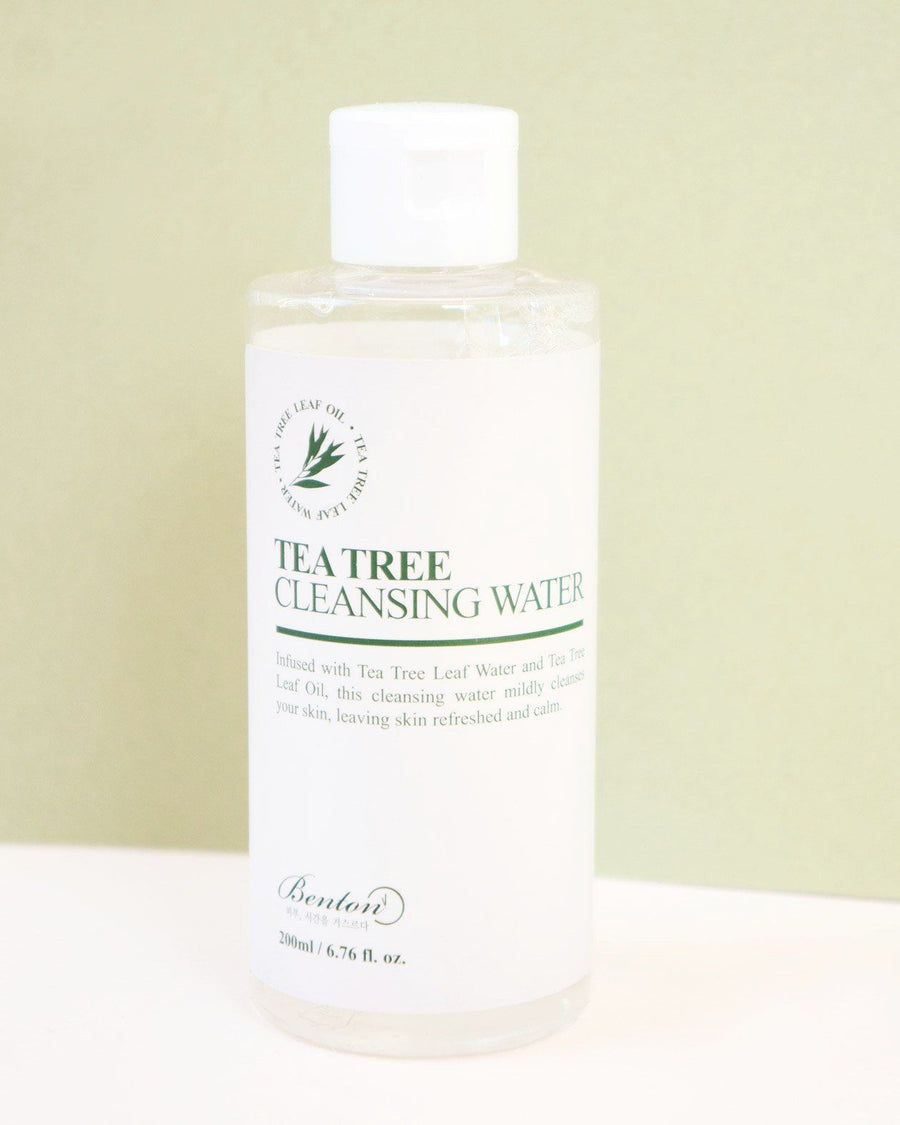 Benton, Tea Tree Cleansing Water, skincare, skin care, toner, clean beauty, vegan beauty, vegan skincare