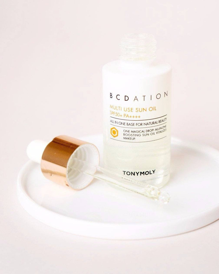 Tony Moly BCDation Multi Use Sun Oil SPF 50+ PA++++, sunscreen facial oil, skin care, skincare