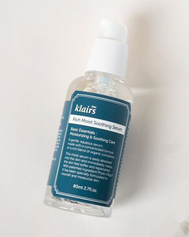 KLAIRS Rich Moist Soothing Serum, skin care, skincare, clean beauty, vegan beauty, vegan skincare