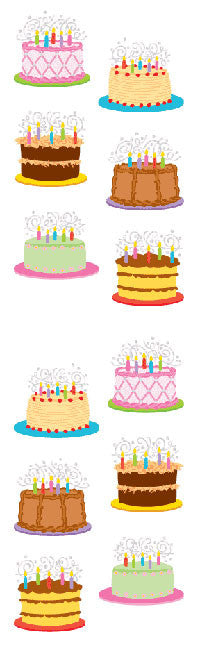 Birthday Cakes, Reflections Stickers - Mrs. Grossman's