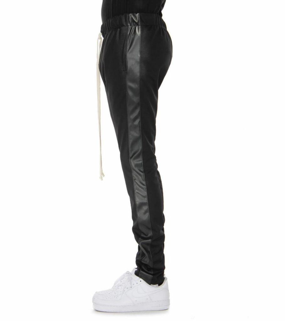 Reflective Track Pants (Black/Leather) / D7