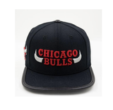 Chicago Bulls Horns Logo Hat (Black)
