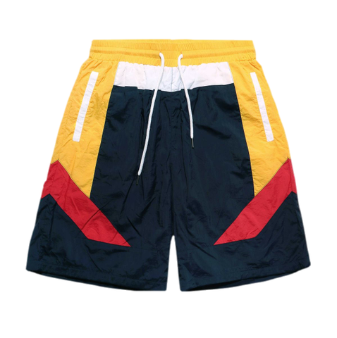 Color Block Nylon Shorts (Navy) /C5