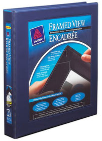 "Framed Binder 1"" - Navy Blue"