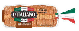 D'Italiano 100% Whole Wheat Bread