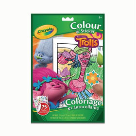 Trolls Colour And Sticker Book