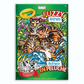 Fuzzy Animals Colouring Pad