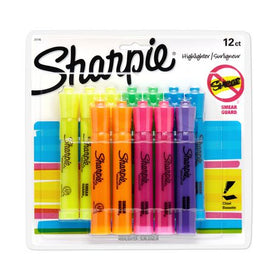 Tank Style Highlighters Assorted Fluorescent Chisel Tip Pens