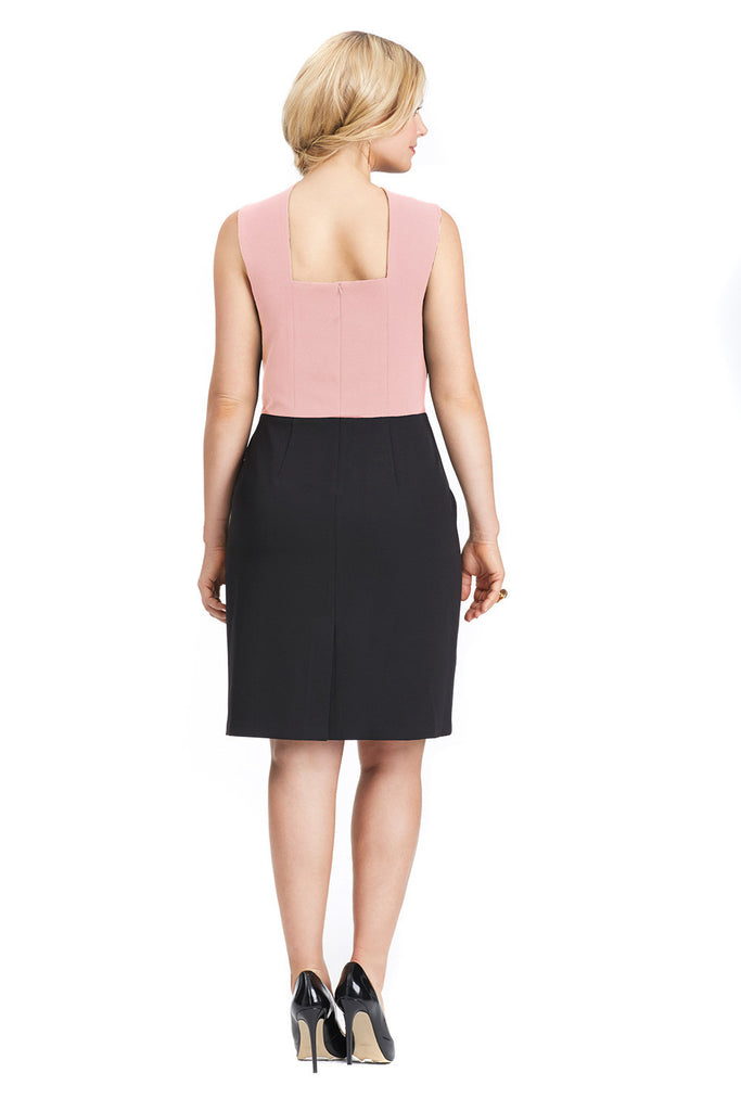 PLUS SIZE CURVY COCKTAIL DRESS IN ROSE
