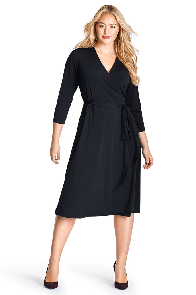 MYNT 1792 BLACK WRAP DRESS