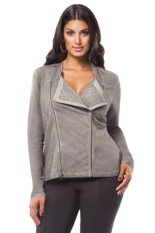 MYNT 1792 Knit Jacket with Lace Detail