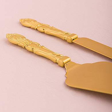 Cake Serving Set - Classic Gold Romance