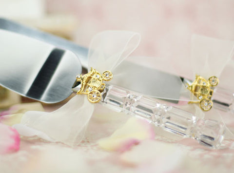 Elegant Fairy Tale Cinderella Coach Wedding Cake Serving Set