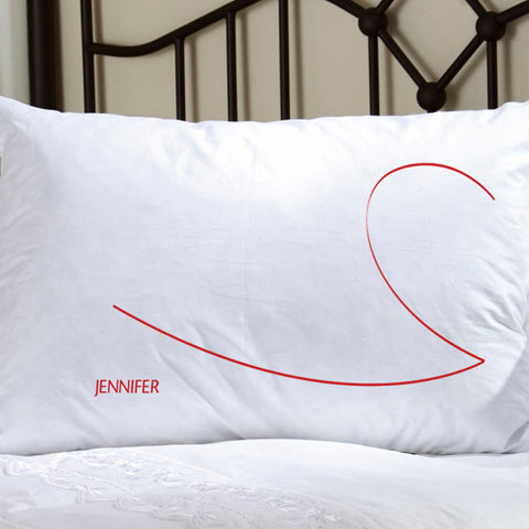Couples Personalized Heartstrings Pillow Case Set