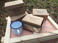 Reproduction WW2 Canadian Mess Tin Ration Box