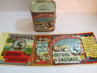 Reproduction WW1 St. George Oxford Sausage Can Label