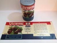 Reproduction WW2 Victrypac Dark Sweet Cherries Can Label