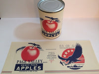 Reproduction WW2 Page Valley Apples Can Label