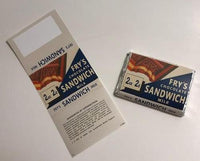 WW2 Fry's Chocolate Sandwich Wrapper
