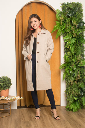 (BO) * PREMIUM * Fionleia Button Down Coat in Grey
