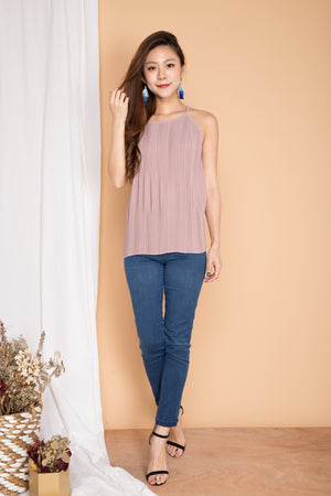 Luna Pleated Top in Pink