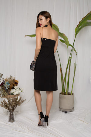 Heidi Dem Slit Dress in Black